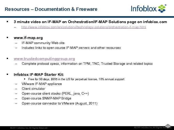 Resources – Documentation & Freeware § 3 minute video on IF-MAP on Orchestration/IF-MAP Solutions