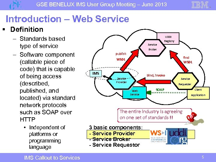 GSE BENELUX IMS User Group Meeting – June 2013 Introduction – Web Service §