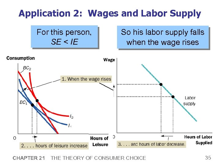 Application 2: Wages and Labor Supply For this person, SE < IE CHAPTER 21