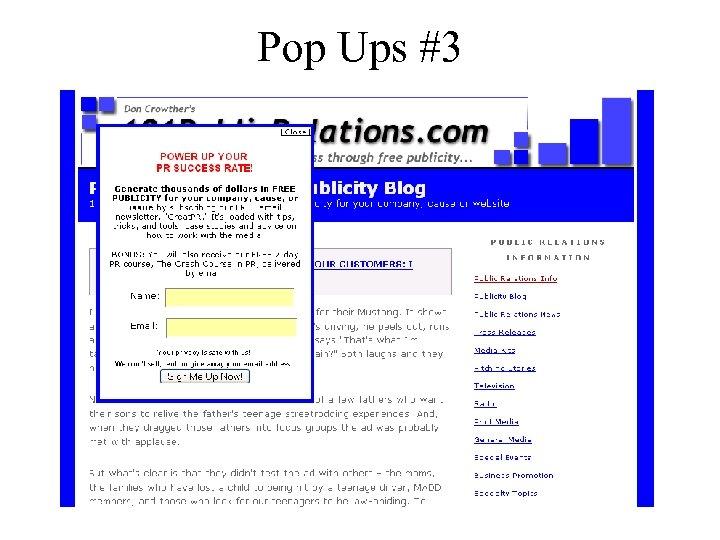 Pop Ups #3