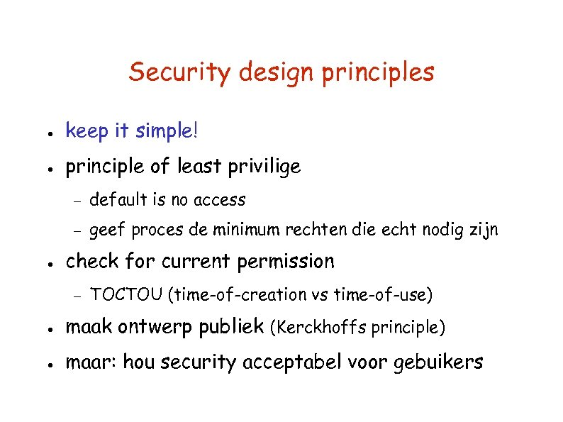 failures in design and security principles 2 failures in design and security principles identify the failures in process and design that have created the current situation for billy's business first thing i notice right away is billy is not ready financially to open his business.