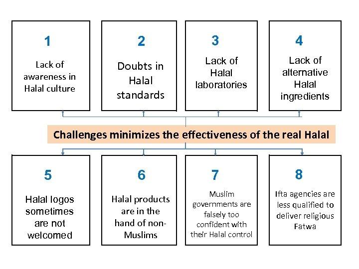 1 2 Lack of awareness in Halal culture Doubts in Halal standards 3 Lack