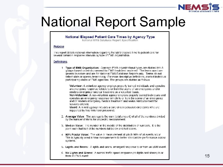 National Report Sample 15