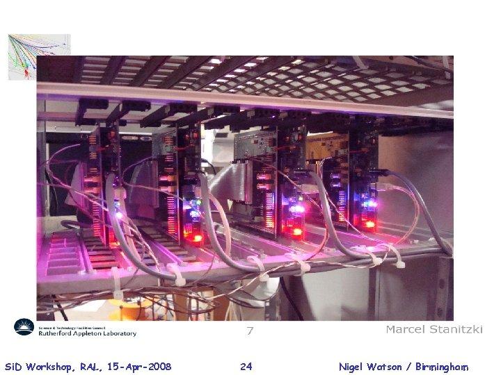 Si. D Workshop, RAL, 15 -Apr-2008 24 Nigel Watson / Birmingham