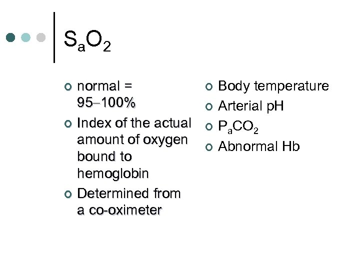 S a. O 2 normal = 95 100% ¢ Index of the actual amount