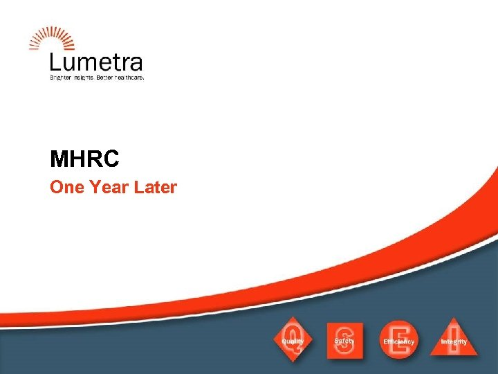 MHRC One Year Later