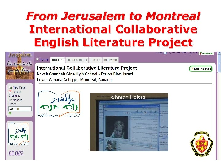 From Jerusalem to Montreal International Collaborative English Literature Project – English Matriculation Research Project