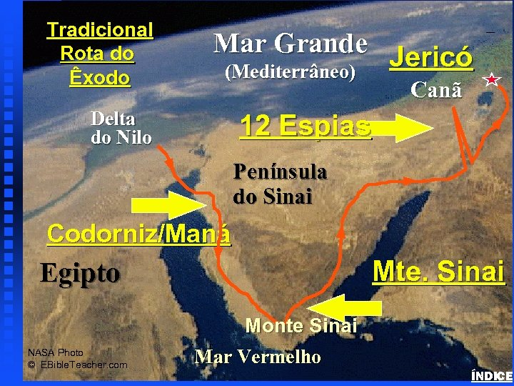 Mar Grande Jericó (Mediterrâneo) Exodus Major Events Map Tradicional Rota do Êxodo Canã Delta