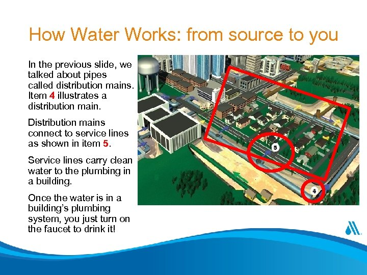 How Water Works: from source to you In the previous slide, we talked about