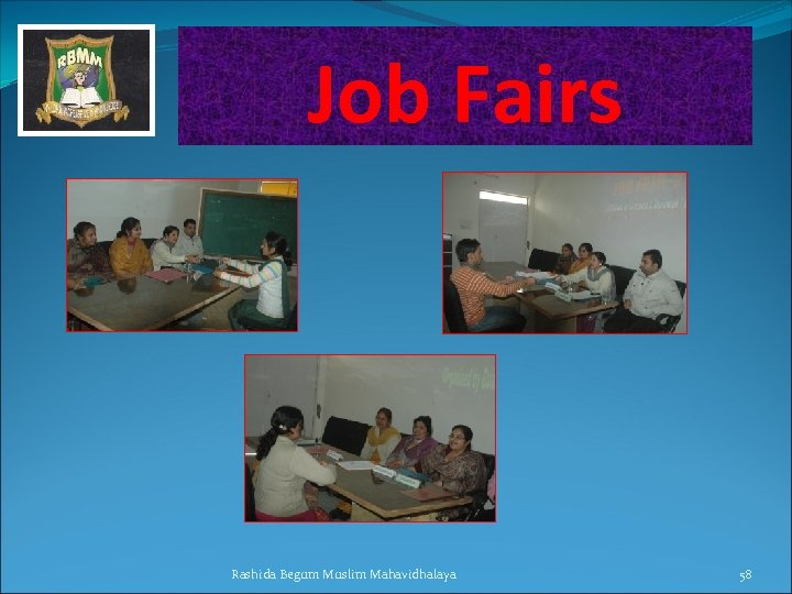 Job Fairs Rashida Begum Muslim Mahavidhalaya 58