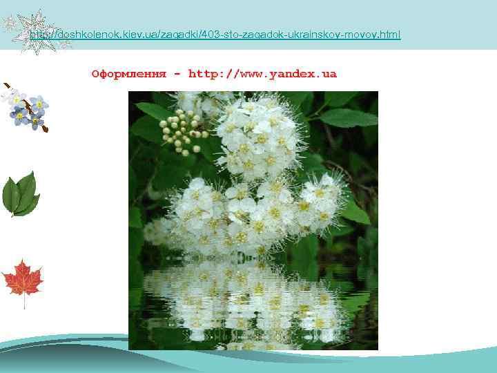 http: //doshkolenok. kiev. ua/zagadki/403 -sto-zagadok-ukrainskoy-movoy. html