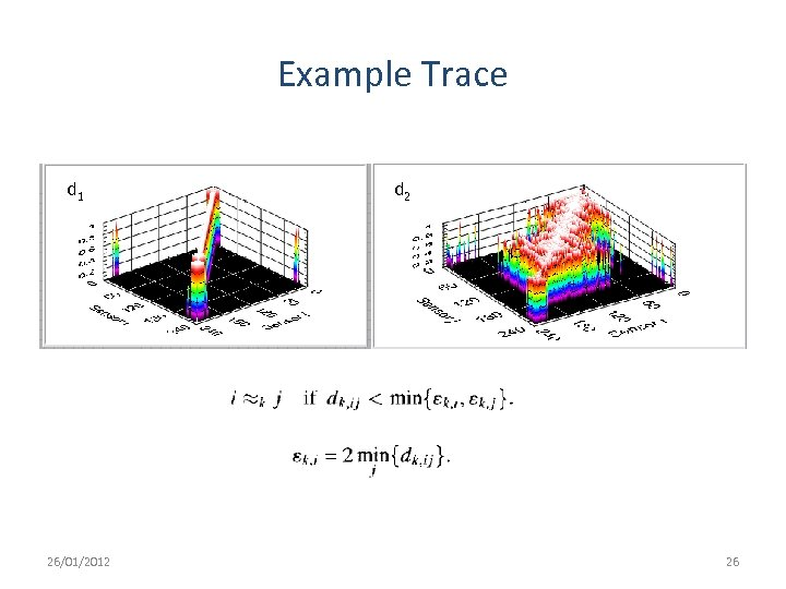 Example Trace d 1 26/01/2012 d 2 26