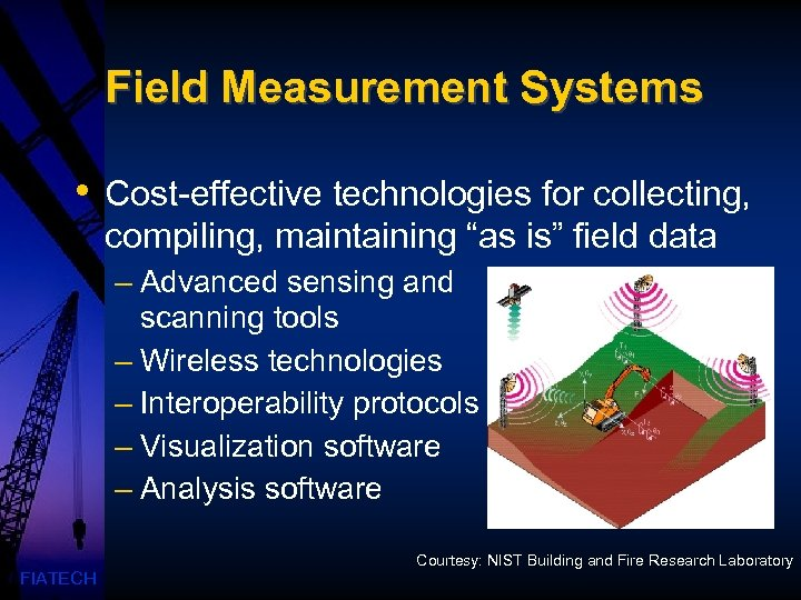 """Field Measurement Systems • Cost-effective technologies for collecting, compiling, maintaining """"as is"""" field data"""