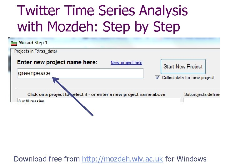 Twitter Time Series Analysis with Mozdeh: Step by Step Download free from http: //mozdeh.