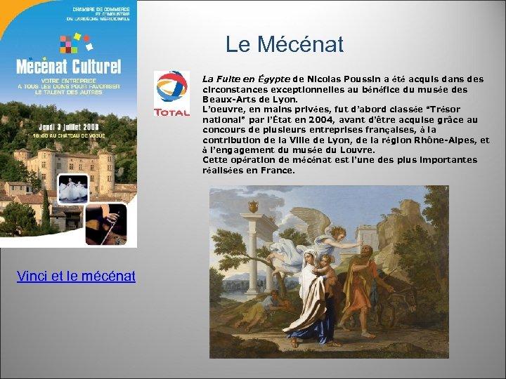 Le Mécénat La Fuite en Égypte de Nicolas Poussin a été acquis dans des