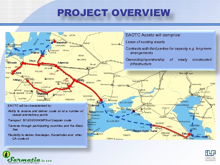 PROJECT OVERVIEW EAOTC Assets will comprise: Lease of existing assets Mazeikiai Contracts with third