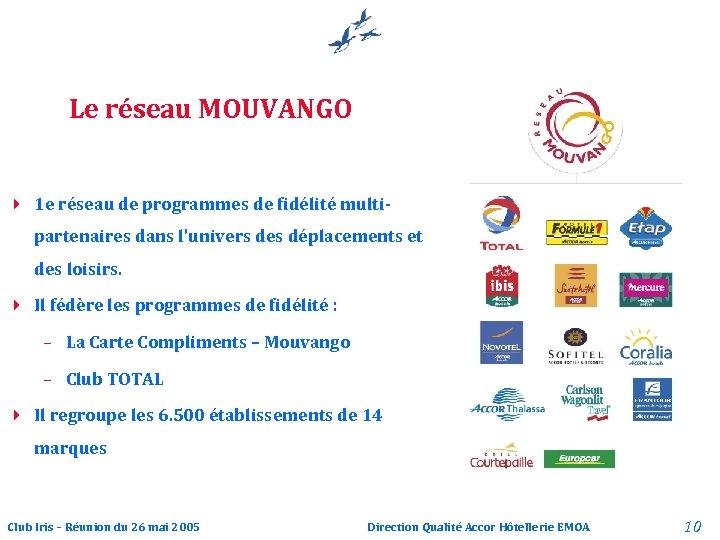 Le réseau MOUVANGO 4 1 e réseau de programmes de fidélité multipartenaires dans