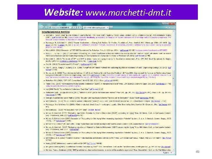 Website: www. marchetti-dmt. it 49
