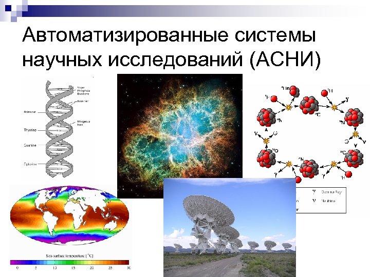 Автоматизированные системы научных исследований (АСНИ) n ррр