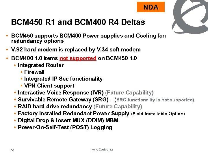 Nortel SMB Solutions Update BCM 450 SCS