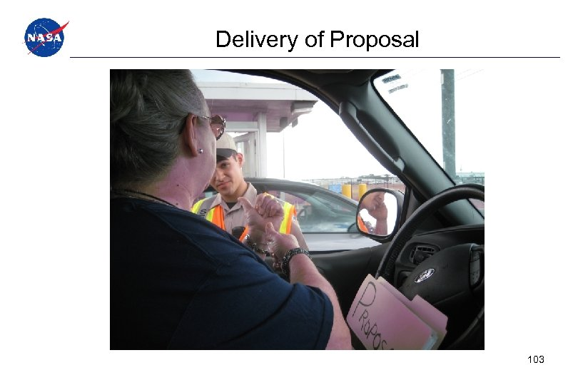Delivery of Proposal 103