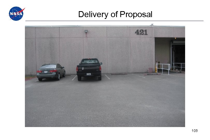 Delivery of Proposal 105