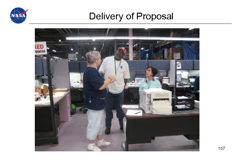 Delivery of Proposal 107
