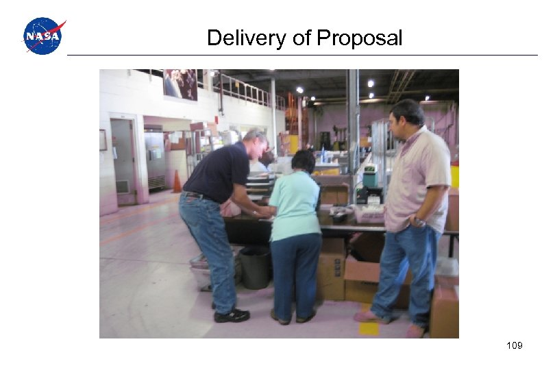 Delivery of Proposal 109