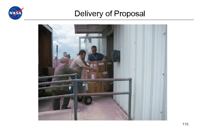 Delivery of Proposal 110