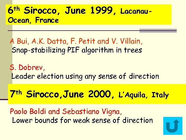 6 th Sirocco, June 1999, Ocean, France Lacanau- A Bui, A. K. Datta, F.