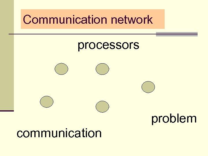 Communication network processors problem communication