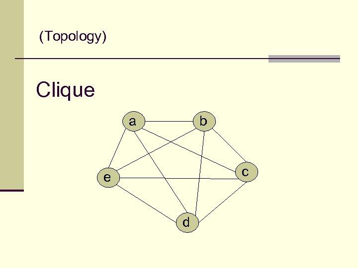 (Topology) Clique a b c e d
