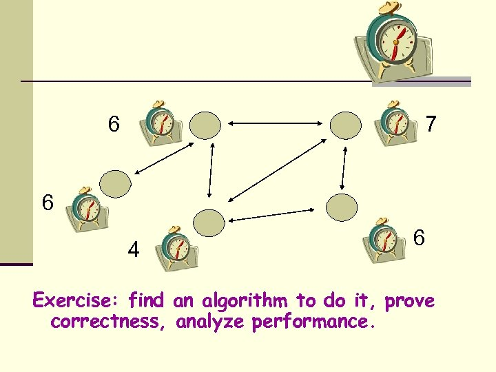 6 7 6 4 6 Exercise: find an algorithm to do it, prove correctness,