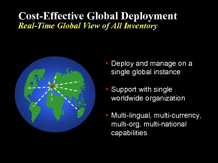 Cost-Effective Global Deployment Real-Time Global View of All Inventory • Deploy and manage on