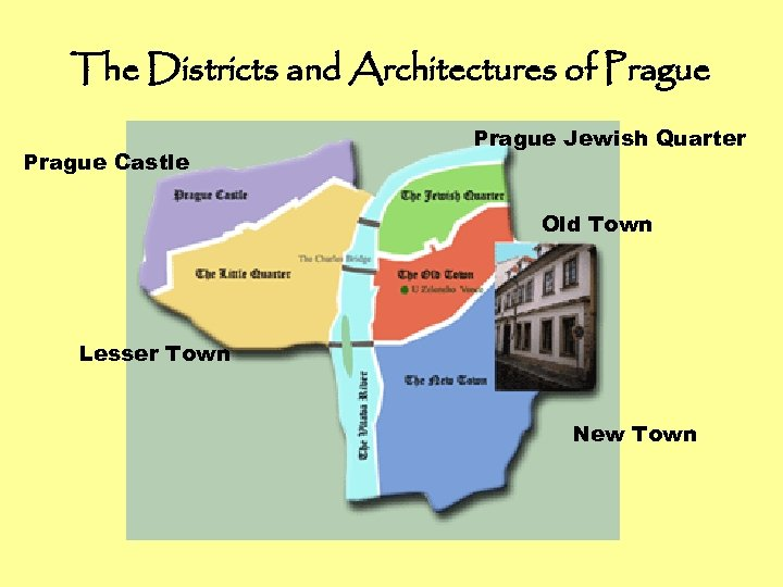 The Districts and Architectures of Prague Castle Prague Jewish Quarter Old Town Lesser Town