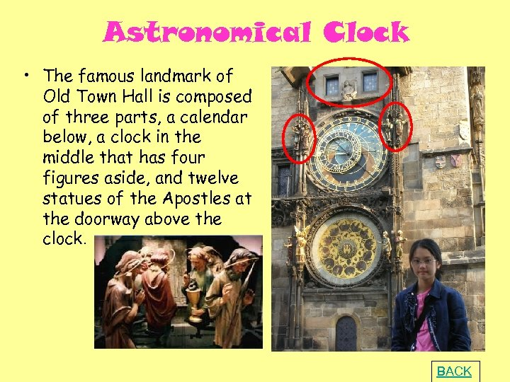 Astronomical Clock • The famous landmark of Old Town Hall is composed of three