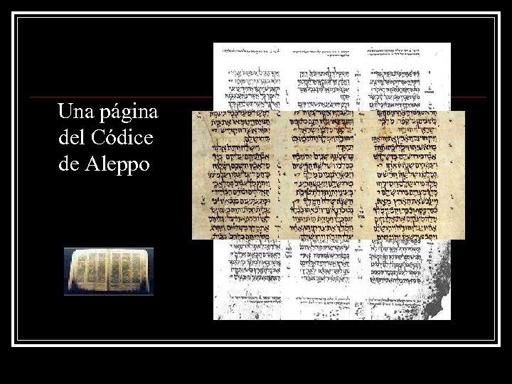 Una página del Códice de Aleppo