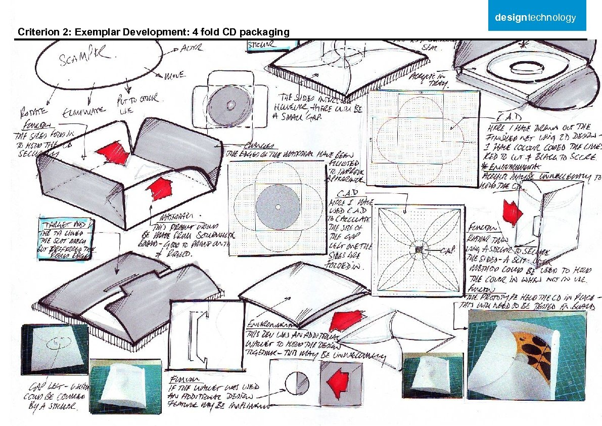 designtechnology Criterion 2: Exemplar Development: 4 fold CD packaging