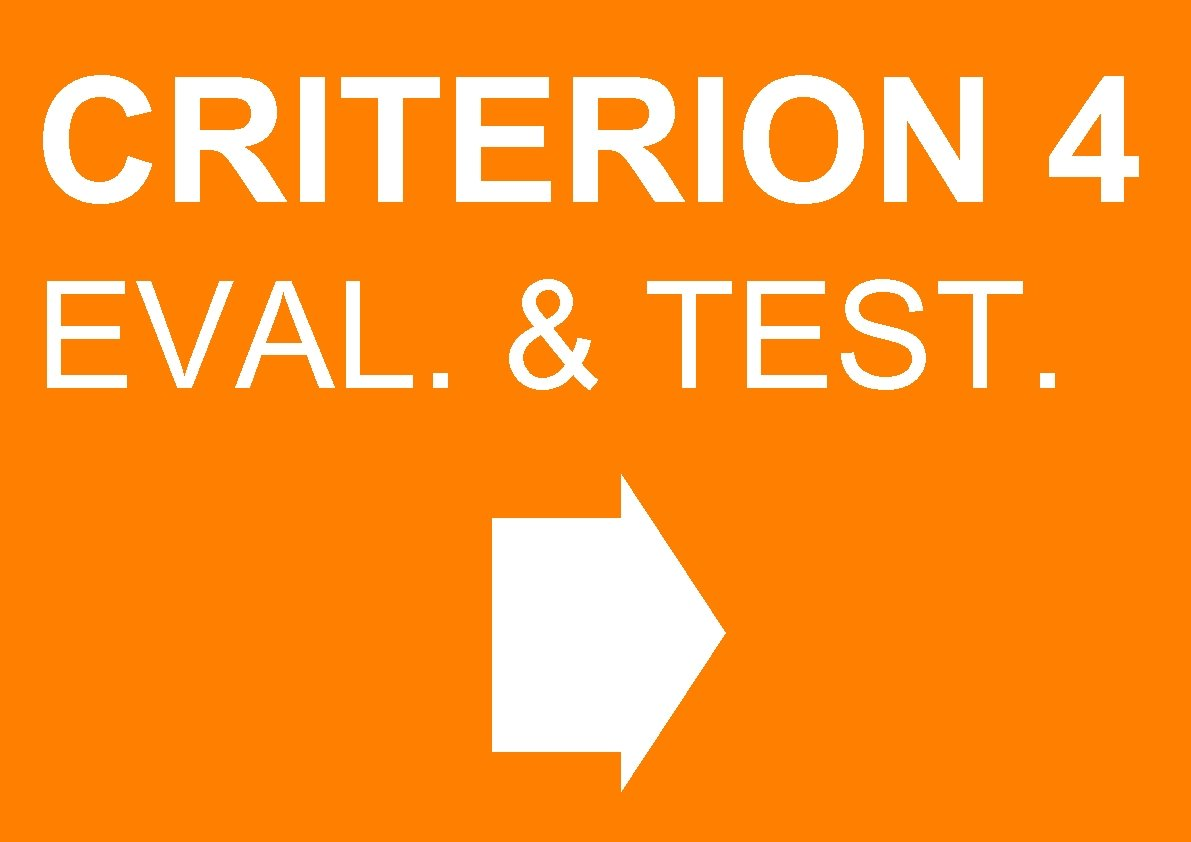 CRITERION 4 EVAL. & TEST.