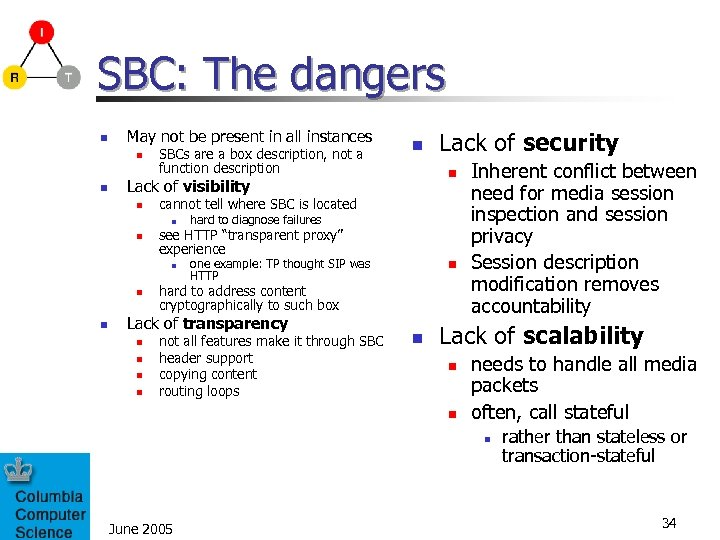SBC: The dangers n May not be present in all instances n n SBCs