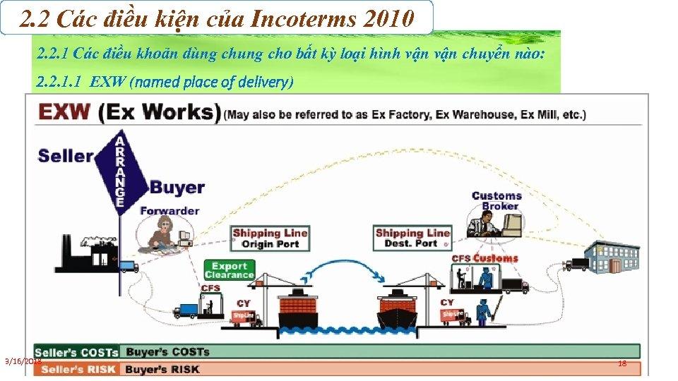 2. 2 Các điều kiện của Incoterms 2010 2. 2. 1 Các điều khoản