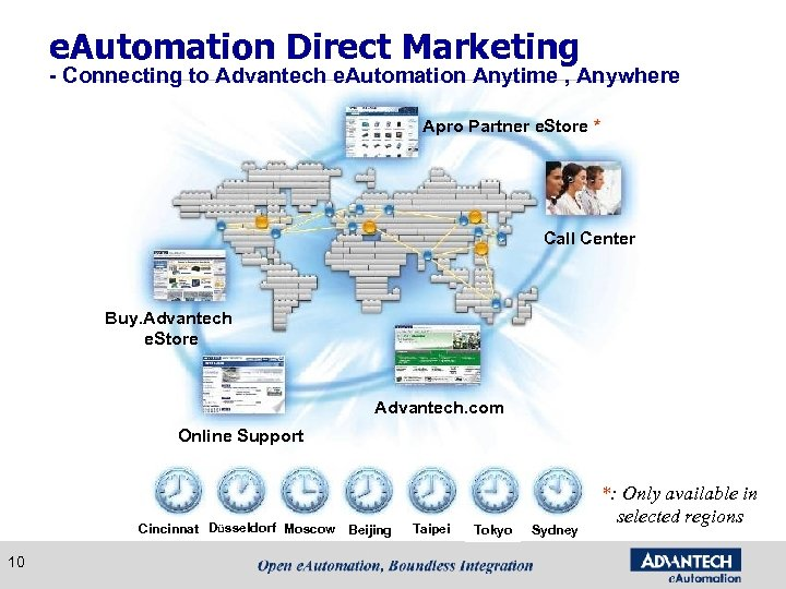 e. Automation Direct Marketing - Connecting to Advantech e. Automation Anytime , Anywhere Apro