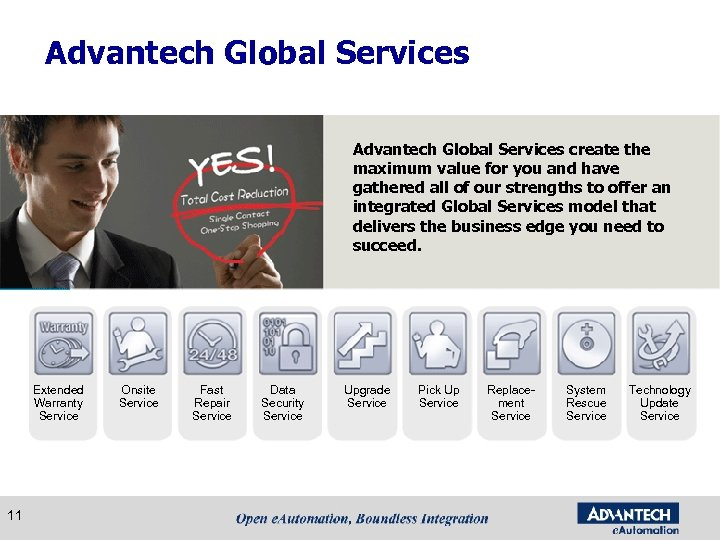 Advantech Global Services create the maximum value for you and have gathered all of