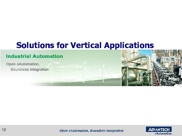 Solutions for Vertical Applications 12