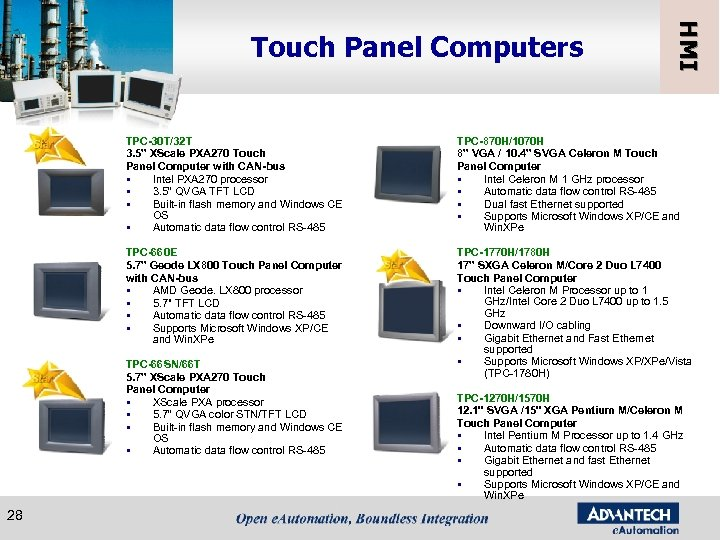 "HMI Touch Panel Computers TPC-30 T/32 T 3. 5"" XScale PXA 270 Touch Panel"
