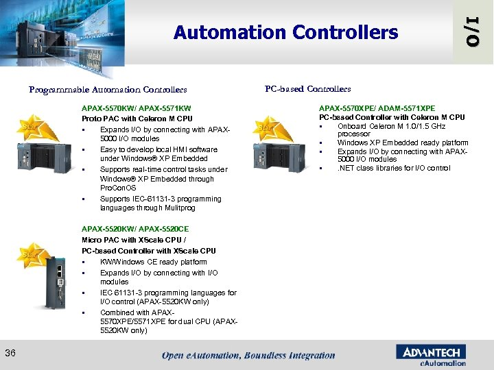 Programmable Automation Controllers APAX-5570 KW/ APAX-5571 KW Proto PAC with Celeron M CPU §