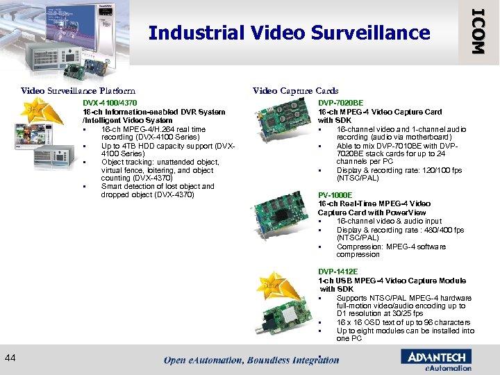 Video Surveillance Platform DVX-4100/4370 16 -ch Information-enabled DVR System /Intelligent Video System § 16