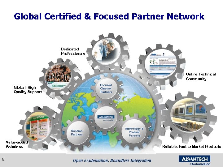 Global Certified & Focused Partner Network Dedicated Professionals Online Technical Community Global, High Quality