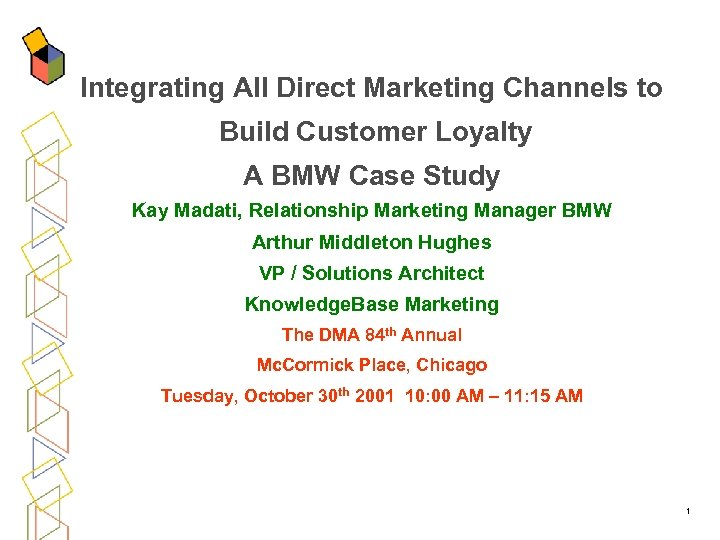 Integrating All Direct Marketing Channels to Build Customer Loyalty A BMW Case Study Kay