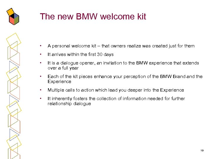 The new BMW welcome kit • A personal welcome kit – that owners realize